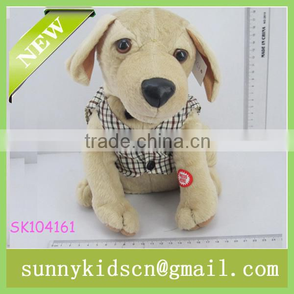 2014 HOT selling animal plush toys plush dog toys power-driven for wholesale plush toys