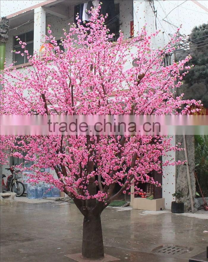 SJ201710016 artificial plastic cherry blossom lighted tree for indoor or outdoor