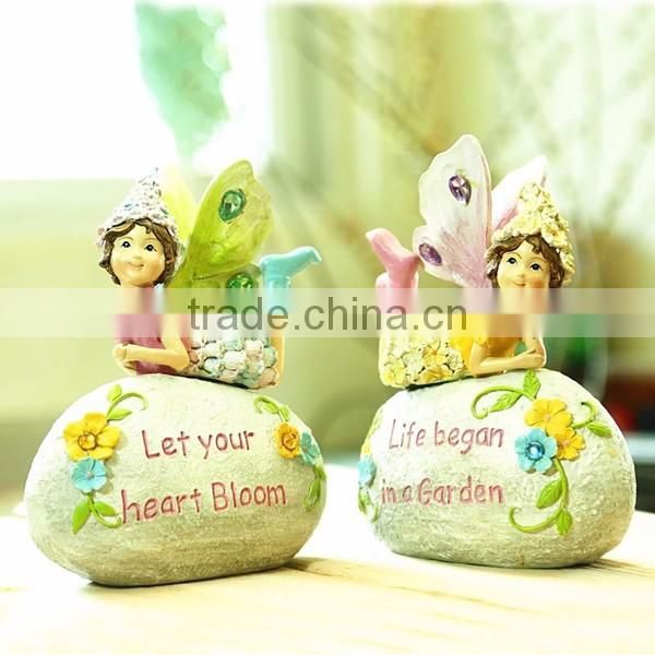 Small garden stone outdoor fairy statues pink fairy figurines for sale
