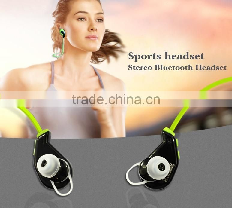 2016 New Super bass stereo bluetooth headset, fashion sport wireelss bluetooth earphone