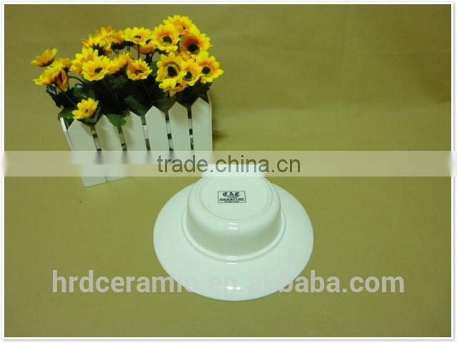 2014 Chinese hot Cheap wholesale round porcelain ceramic soup bowls
