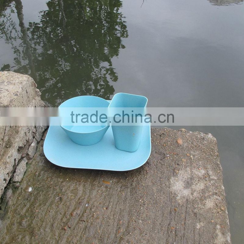 Corn starch Traditionary Biodegradable Bamboo fiber Dinner Set
