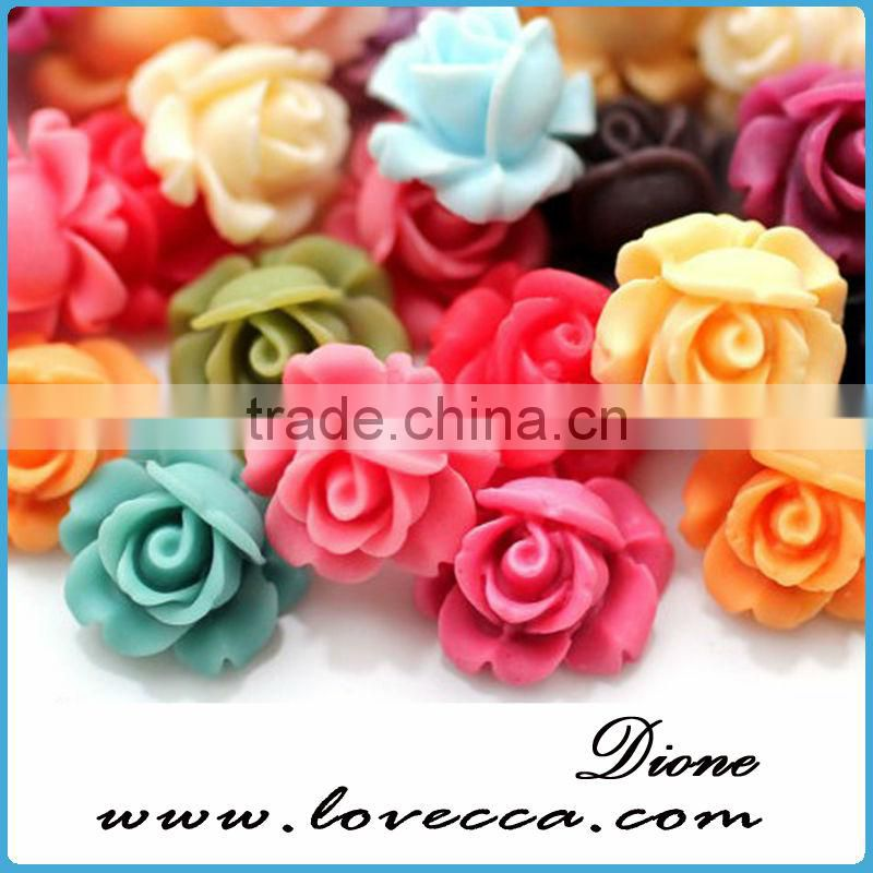 wholesale special designed resin flower cabochons