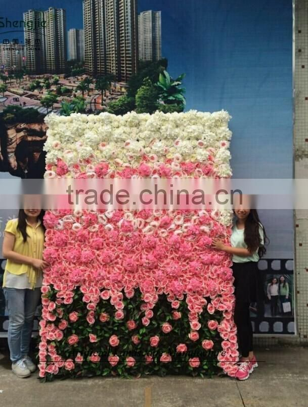 artificial flower wall with ODM design,hot sale flower wall manufacturer