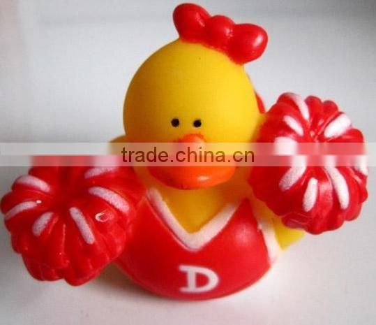 High quality floating rubber pirate shape duck family baby bath toy set