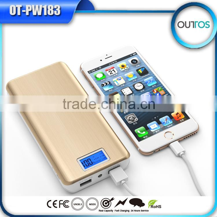 Wholesale long lasting power bank 16000mah for iphone samsung