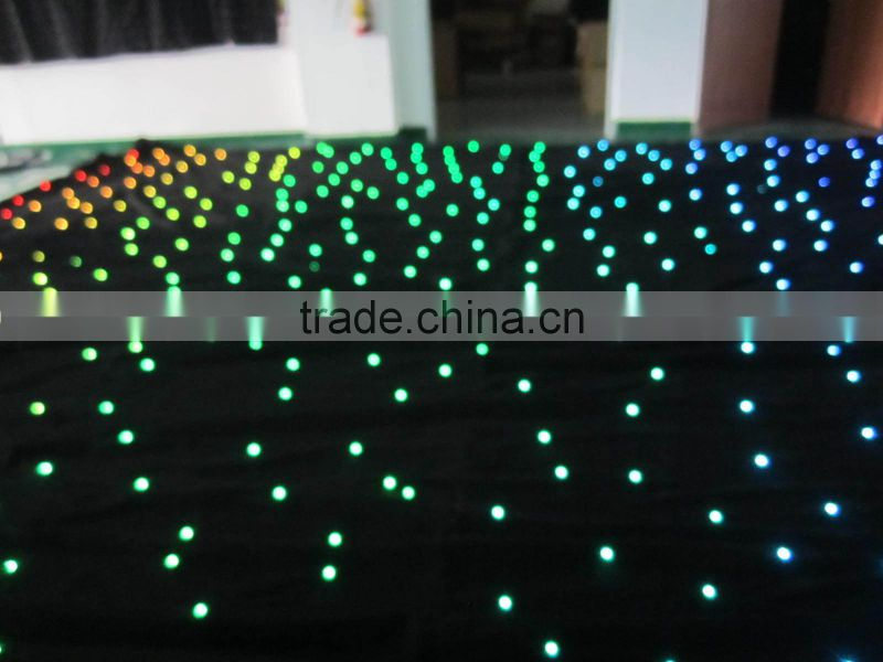 led star curtain starry sky effect full color