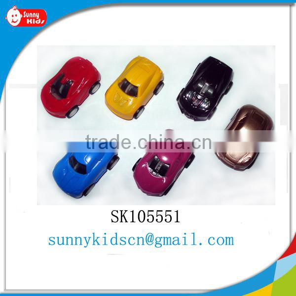 Pretty pull back car toy capsule toy