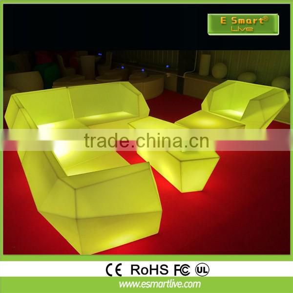 Restaurant Club Modern Rechargeable Glow LED Bar Table