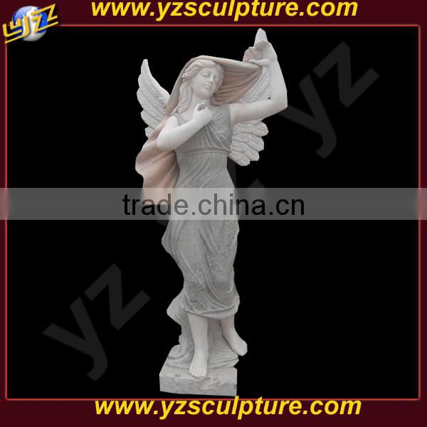 life size marble elegant angel statue for sale