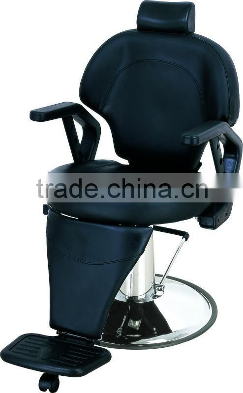 2015 Balck barber chairs with PU armrest/Man's all purpose reclining barber chairs