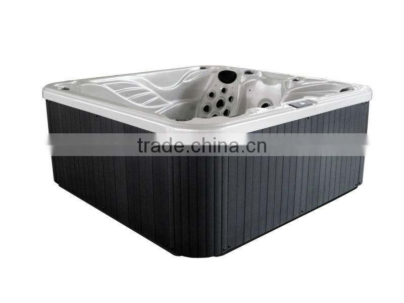 Beautiful 5 person hot tubs with fiberglass spa bottom