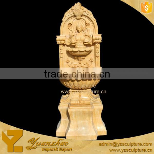 natural outdoor stone carved lion wall fountain for garden decoration