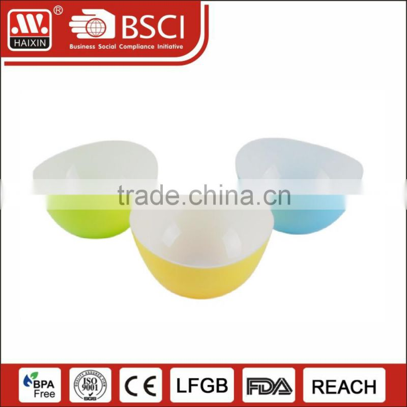 Durable plastic wholesale plastic fish rice bowls with lid