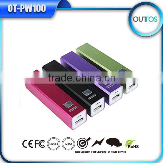 Mini channel lipstick power bank 2600 mah