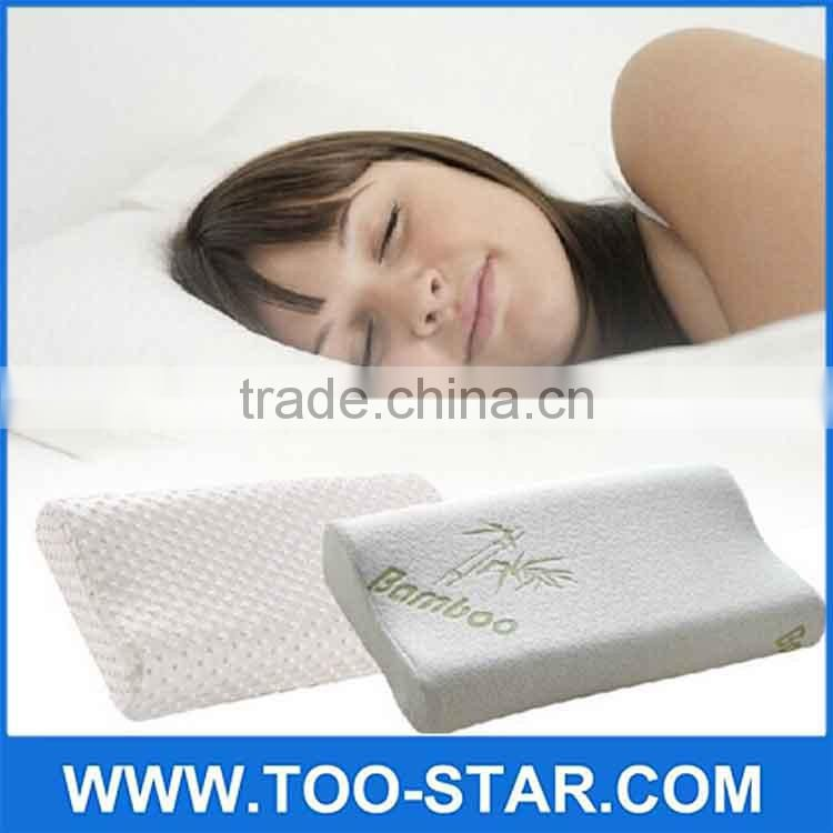 bamboo fabric Latex pillow memory foam Massage pillows neck cervical healthcare pillows
