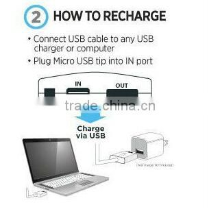 high quality portable 5v 4 usb outputs external charger square