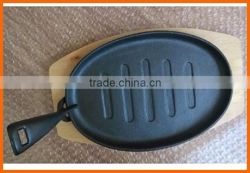 WS-FP16 oval frying pan/fajita pan