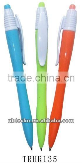 cute Plastic ballpen with soft grip for promotional