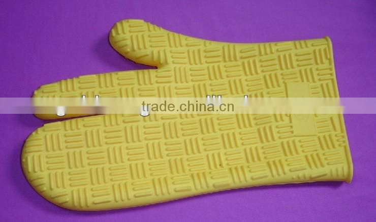 Silicone BBQ Glove Barbecue Heat Resistant Five Fingers Oven Mitts