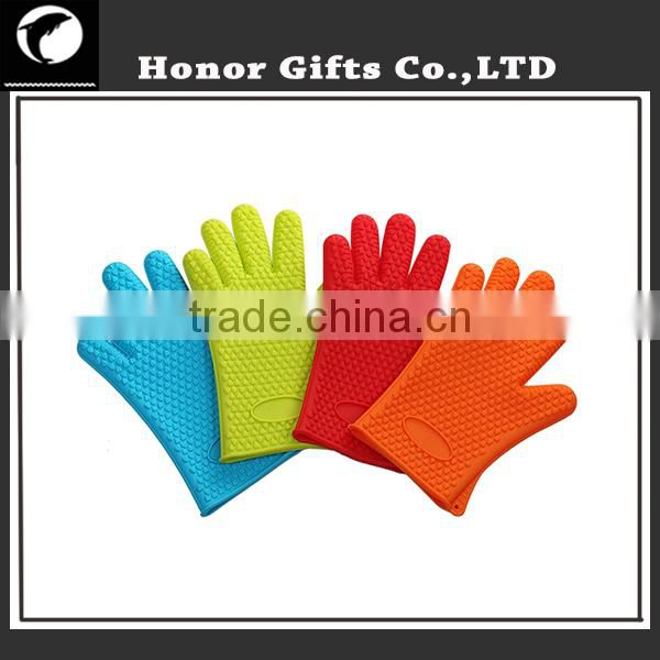 Food Grade FDA Heat Resistant Kitchen Oven Silicone Barbecue Gloves