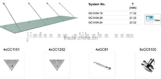 "Stainless Steel Tempered Glass Canopy ""TRIANGLE"""