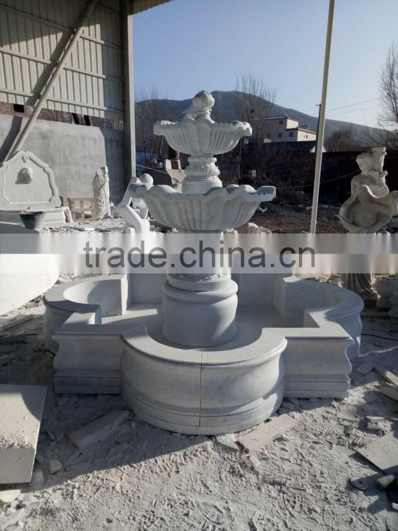 hand carving natural white marble italian garden fountain NTMF-S536S