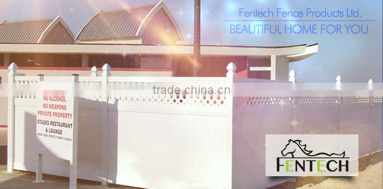 High quality hot sale UV proof plastic/vinyl/pvc garden privacy fence