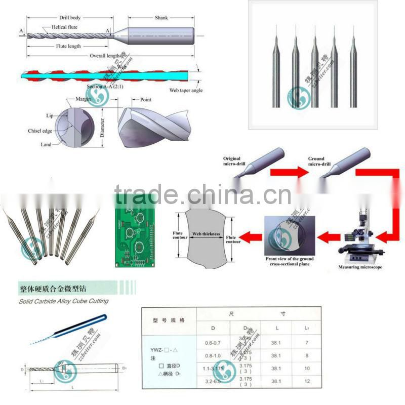 solid micro carbide endmill for cube cutting