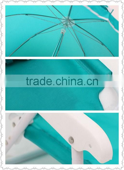 Kids folding beach chair with umbrella