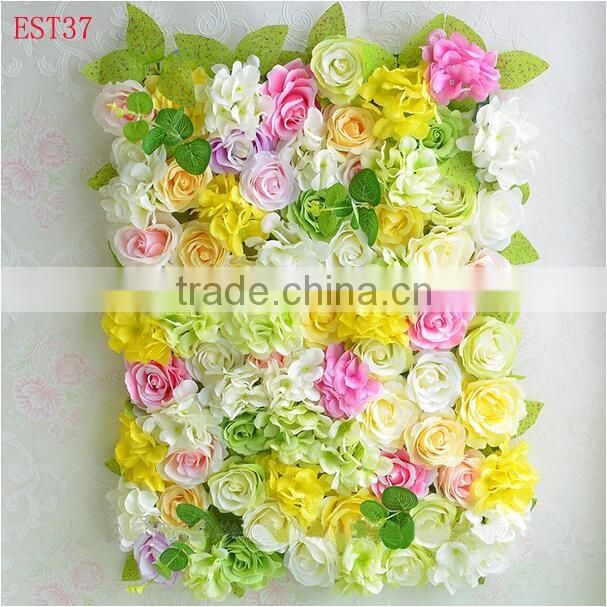 New product silk flower wall new design wall wedding decor artificial orchid flower wall