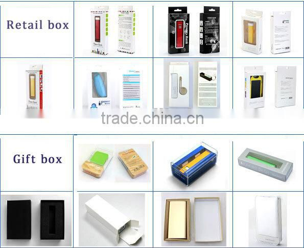 promotion gift ultra thin power bank 2500mah lithium polymer