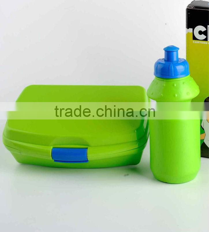 2016 Hot selling low price Plastic green lunch box from china