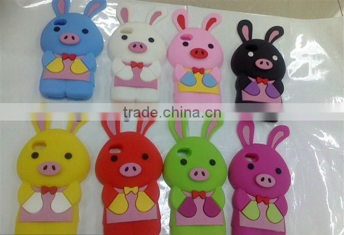 Silicone case for mobile phone bag