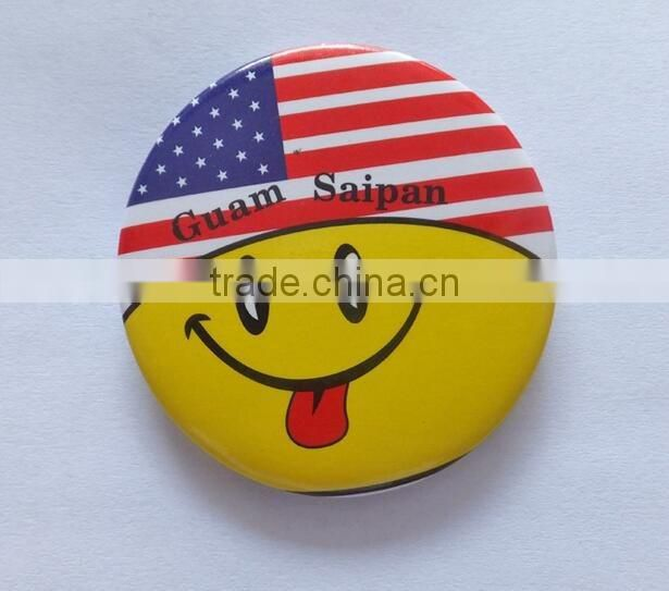 Uniform use custom printed arm badge reflection button badge
