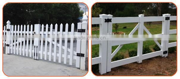 Heavy duty hinge for vinyl fence gate