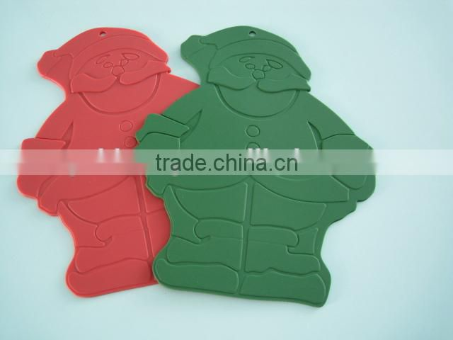 New style the santa claus shape silicone baking mat