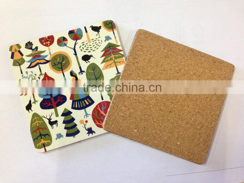 Illustration Style Mat Cute forest Pad Paper Coaster Placemat Coffe Mats square thick paper coaster