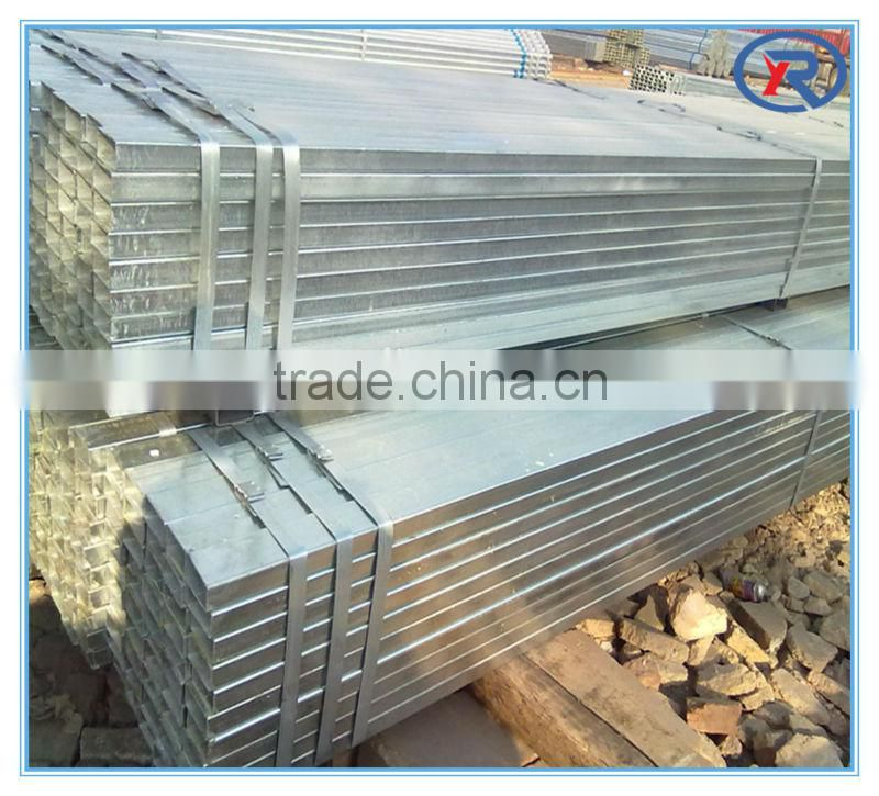 Q195 ms galvanized GI rec square pipes from china alibaba