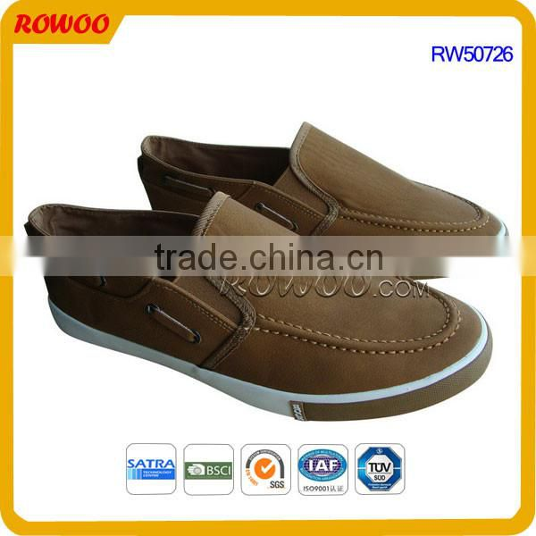 Brown Gents men shoe comfortable loafer shoes sneaker