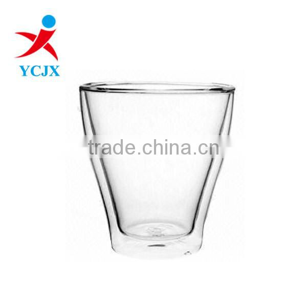 Double Wall Glass Cup for Tea/Juice/Coffee
