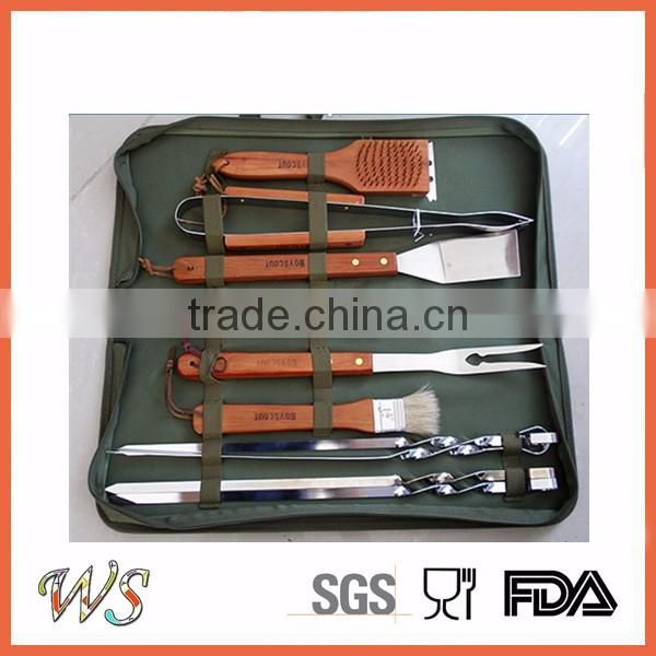 WSSKYG152 stainless steel bbq tool set with portable aluminum case
