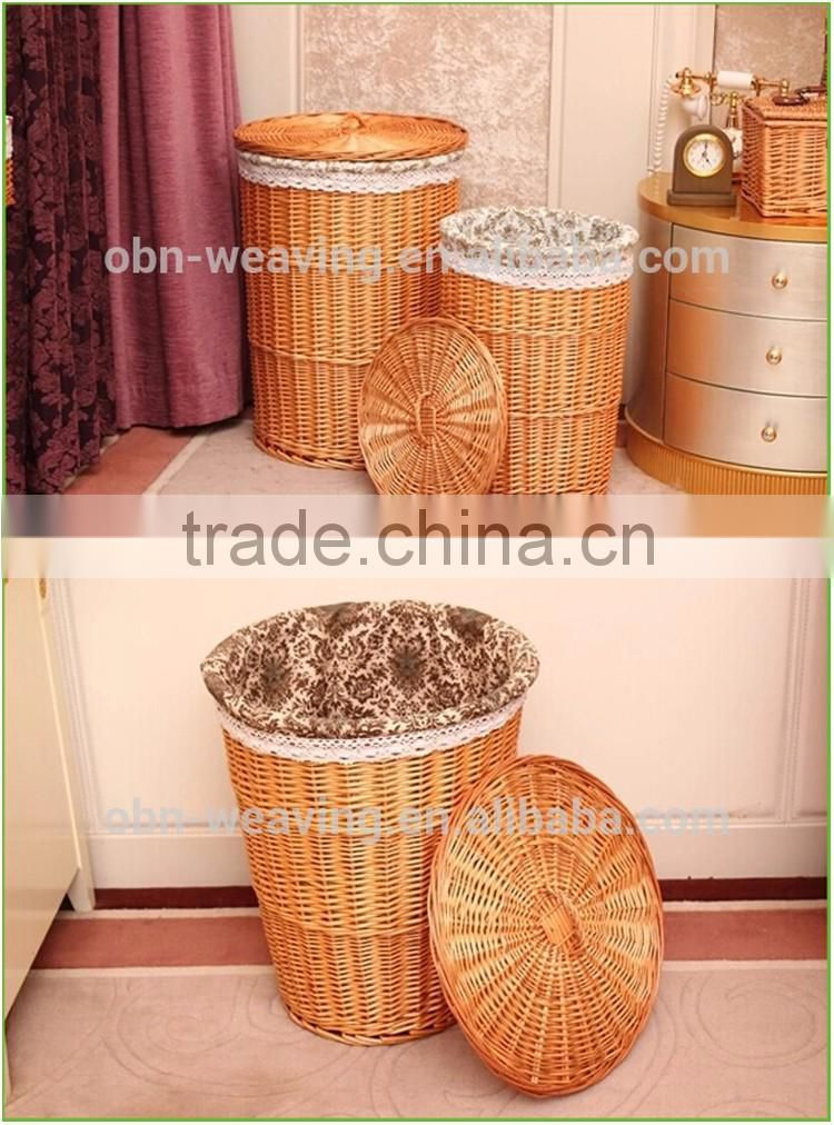 Hot sell corner novelty laundry hamper with lid