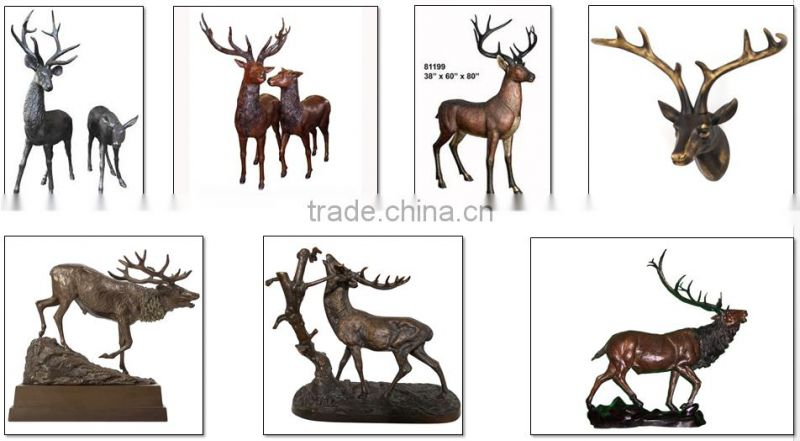 Norton factory bronze animal deer head statues NTBA-DE034Y