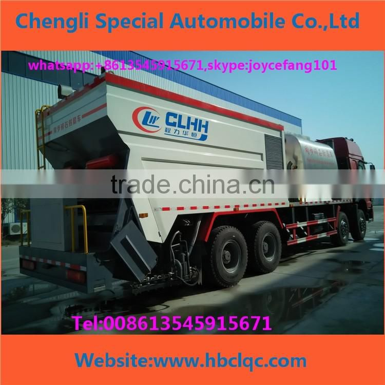 Asphalt Synchronous Chip Sealer,Distribute Bitumen And Aggregate,Chipping Machine