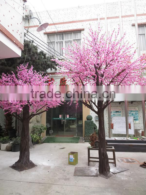 Y15 Large outdoor artificial peach blossom tree with real touch silk peach flower