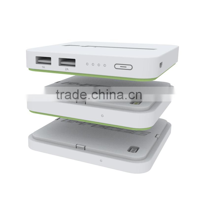 2015 new desing multifunction external mobile power bank phone charger