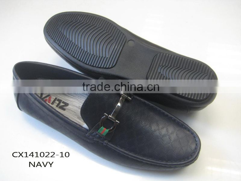 2014 hot selling classic fashion mens pu driving shoes