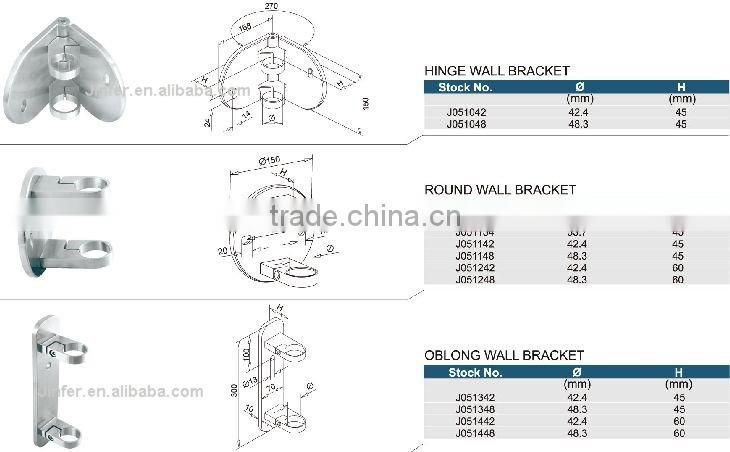 SS/Stainless steel Oblong Wall Bracket