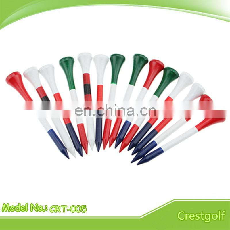 Colorful Plastic Blade Golf Tees Plastic Wedge Golf Tees